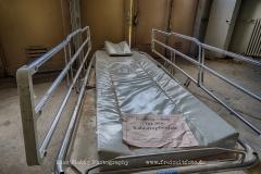Das Reserve-Bett ist im Katastrophenfall zu verwenden, besagt der Zettel auf dem Bett.