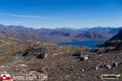 Rückblick auf den Arctic Circle Trail. Da kommen wir her.