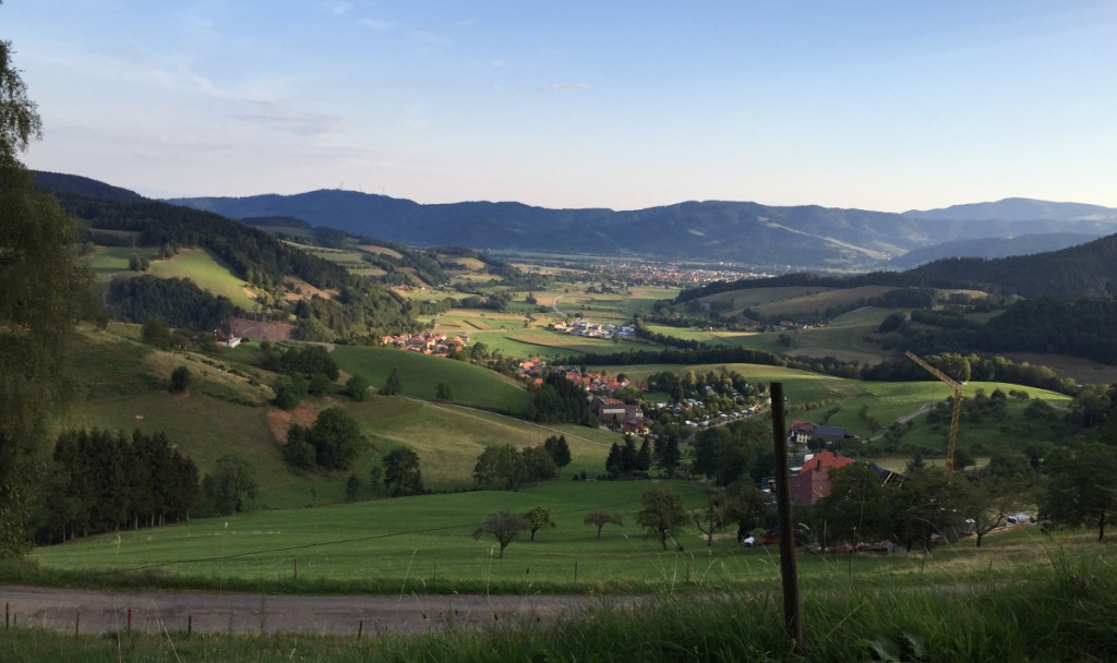 Panoramablick ins Tal.
