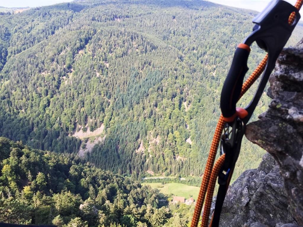 Beim Klettern diese schöne Aussicht gehabt.