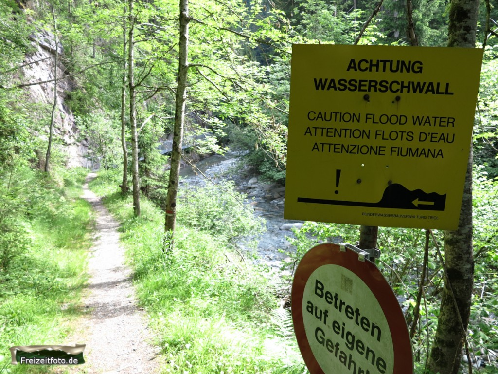Pitztal-Wasserschwall-Warnung