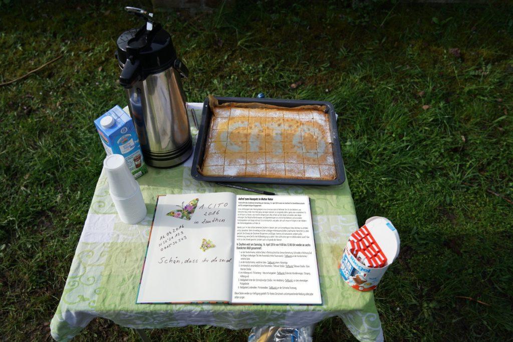 Bild: Kaffe und Kuchen am Treffpunkt Nr. 5.