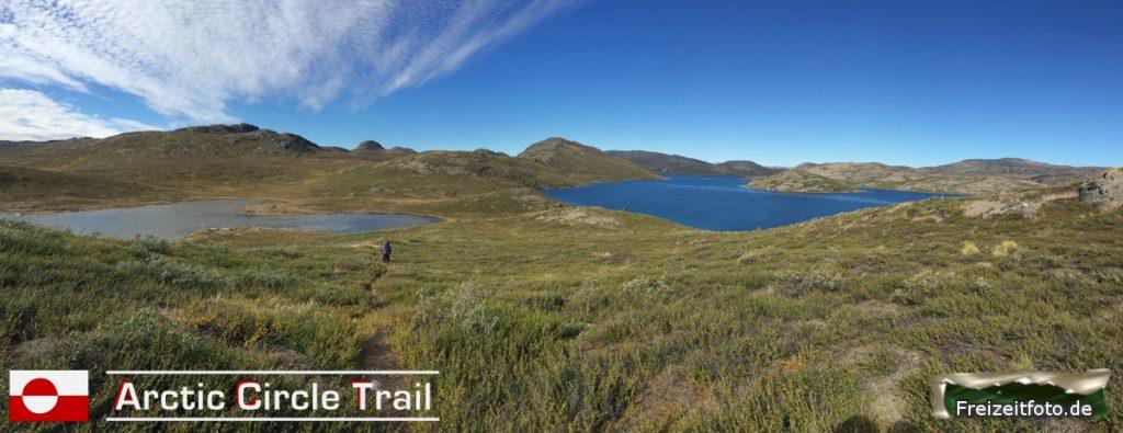 Der Arctic Circle Trail ist gut zu erkennen.