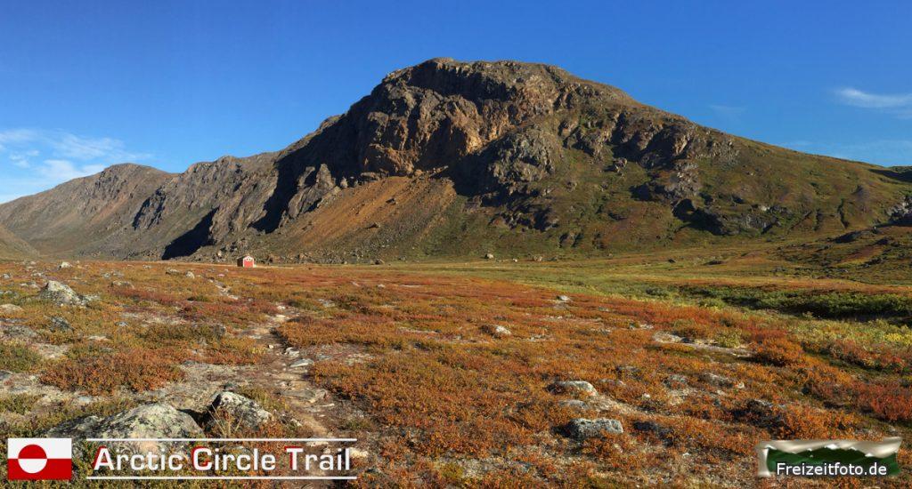 Rückblick zur Hütte Nerumaq