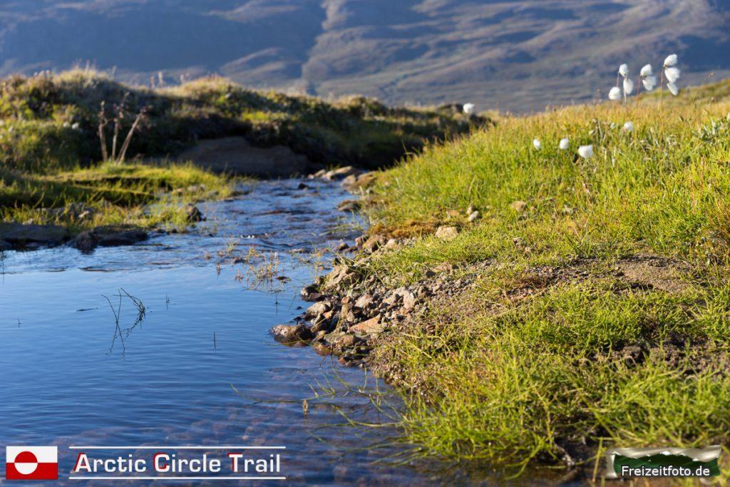 Der Fluss mit der letzten Trinkwassermöglichkeit vor der Hütte Kangerluarsuk Tulleq.