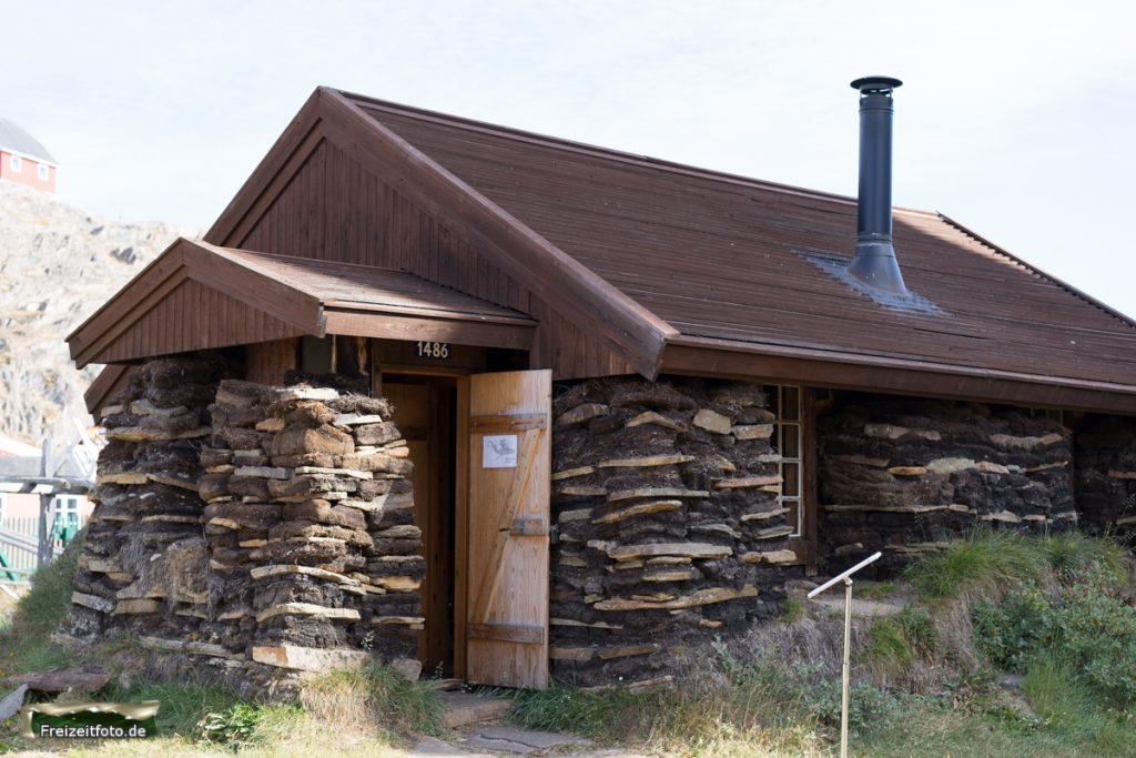 Ein Steinhaus nach alter Bauweise der Einwohner.