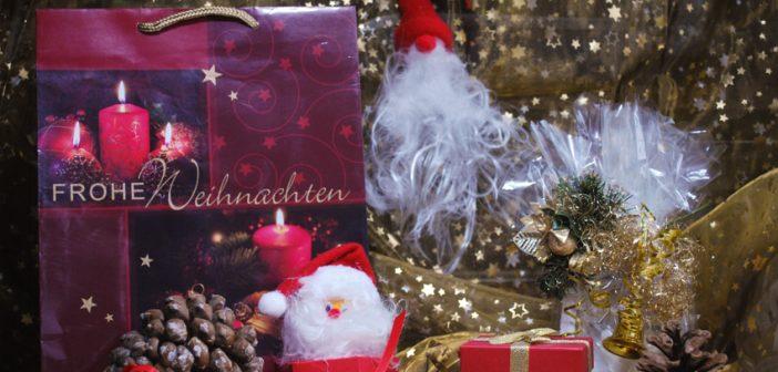 Weihnachtsdose dekoriert