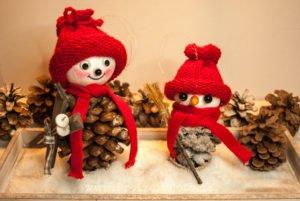 Dekoration mit Weihnachtswichtel