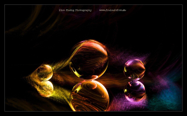 LED-Lightpainting Glaskugel