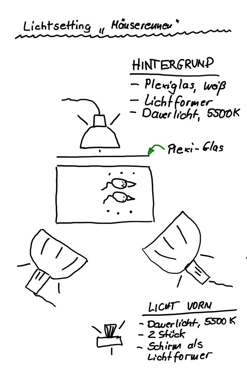 Lichtsetting Mäuserennen