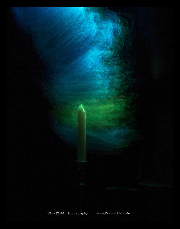 Lightpaint mit Kerze