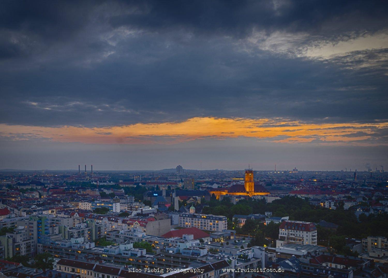 Berlin Schöneberg Sonnenuntergang.