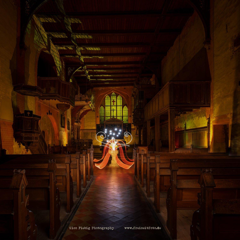 Lightpainten im Kloster Rühn