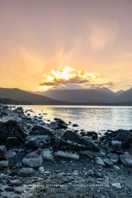 Sunset in Manapouri