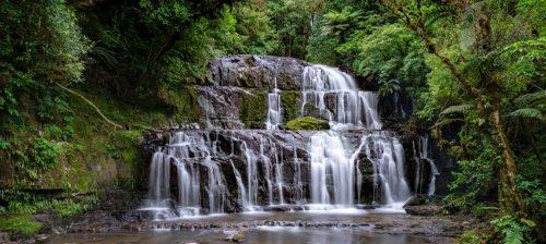 Purakaunui Falls in Neuseeland