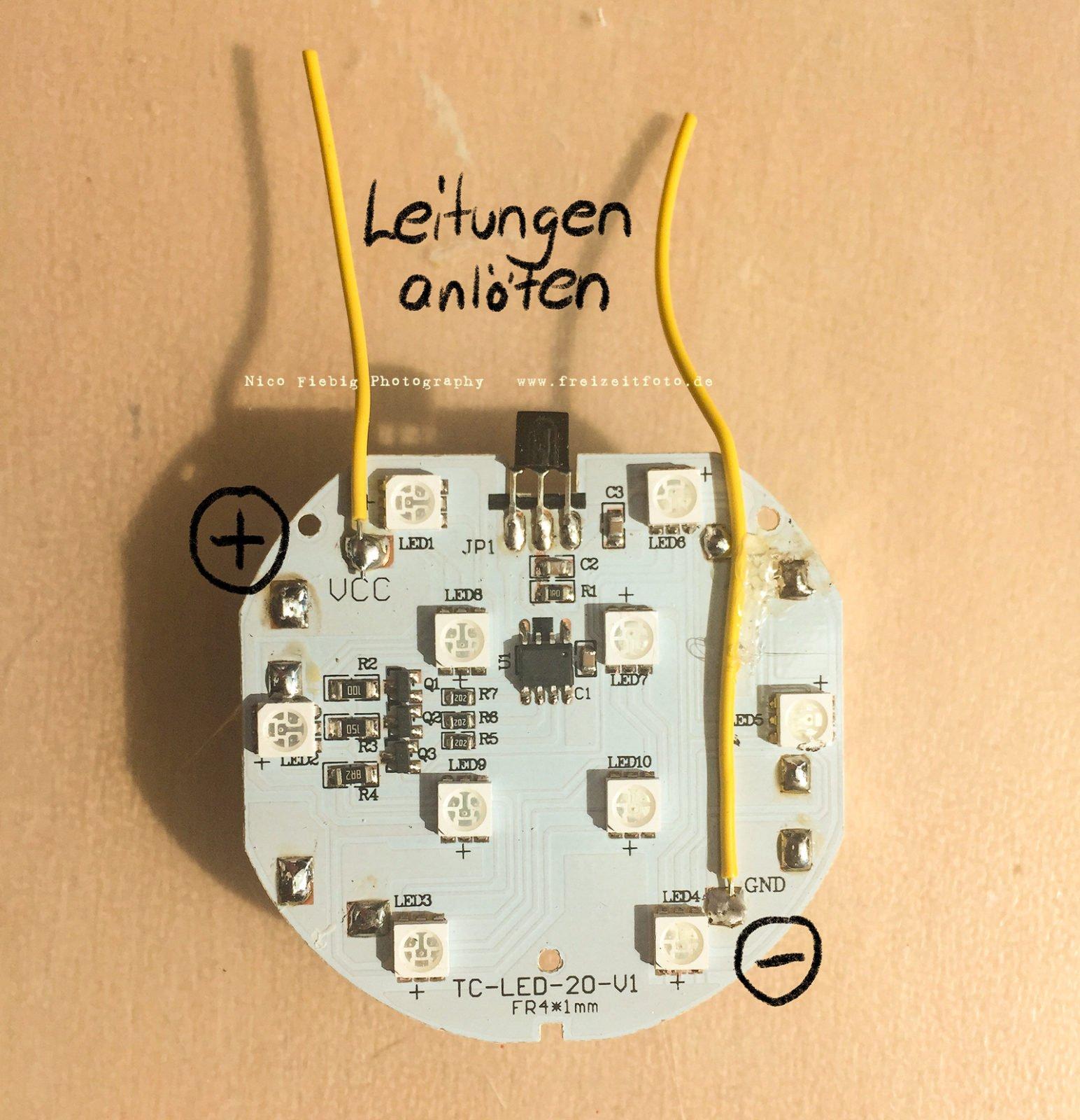 Dekolicht für Lightpainting umbauen