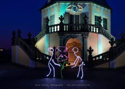Lightpainting Festung Königstein - Friedrichsburg