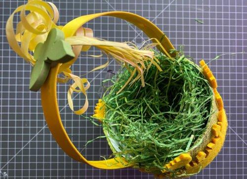 Osterkörbchen mit Dekobänder